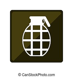 Military grenade emblem icon image