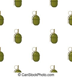 Military grenade icon in cartoon style isolated on white background. Military and army pattern stock vector illustration