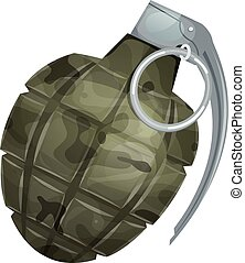 Military Grenade - Illustration of a military bomb, with...
