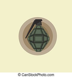 Military Grenade Weapon Icon