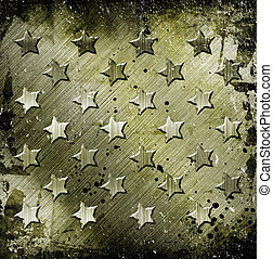 Military Grunge With Stars