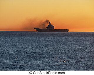 military hajó, tenger