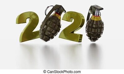 Military Hand Grenade 2020 design in Infinite Rotation on a...