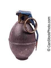 Hand Grenade - Clipping Path - Military Hand Grenade -...