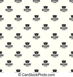 Military hat pattern vector seamless repeat for any web...