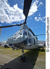 Military helicopter - Chinook military transport helicopter