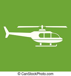 Military helicopter icon green