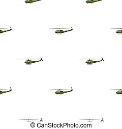 Military helicopter icon in cartoon style isolated on white background. Military and army pattern stock vector illustration