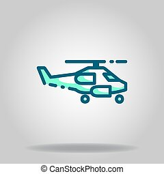 military helicopter icon or logo in  twotone - Logo or ...