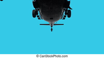 Military helicopter UH-60 Black Hawk realistic 3d animation...
