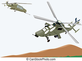 Military helicopters - Military equipment. Airforce....