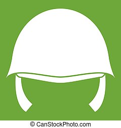 Military helmet icon green