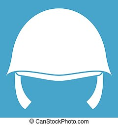 Military helmet icon white