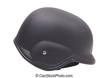 Military Helmet Isolated on White