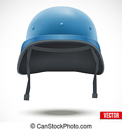 Military helmet of United Nations vector - Military helmet...