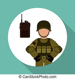 Military icon design , vector illustration