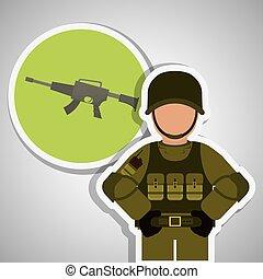Military icon design , vector illustration