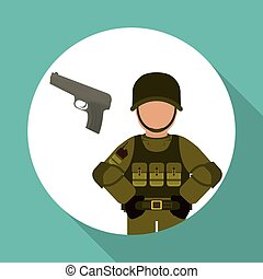 Military icon design , vector illustration - Military icon...