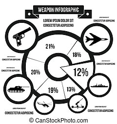 Military infographic template, simple style