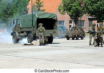 Military intervention, rescue