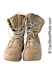 military-, leger, laarzen