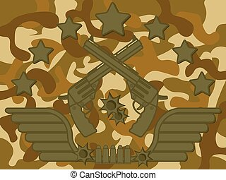 Military Logo Pistol Shooter
