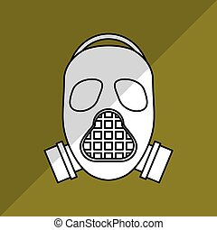 Military mask design , vector illustration