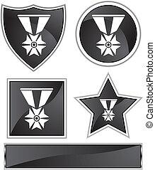 military medal icon black