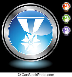military medal icon chrome
