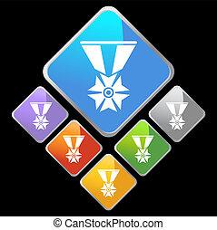 military medal icon diamond