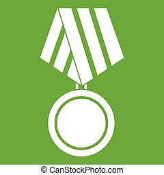 Military medal icon green
