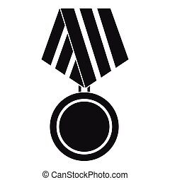 Military medal icon, simple style
