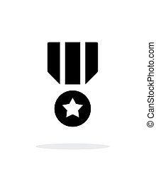 Military medal simple icon on white background. Vector...