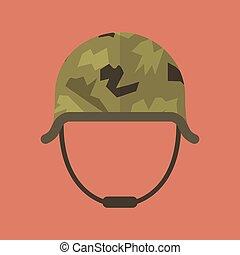 Military metal helmet