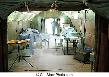 Military mobile hospital - Operation room in a military...