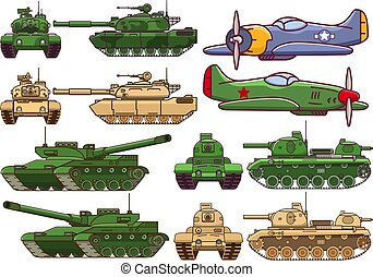 Military modern tank. Armored army combat vehicle.