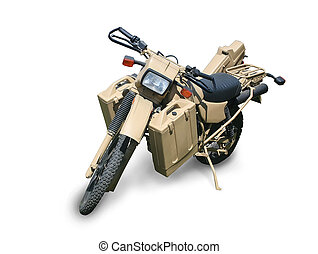 military motorcycle isolated
