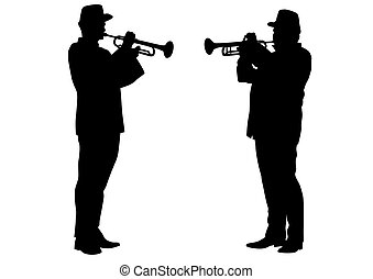 Military musicians four