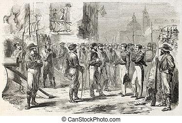 Military negotiation between Neapolitan deputies and...