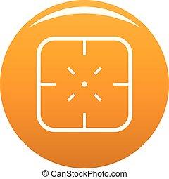 Military objective icon vector orange