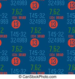 Military packaging seamless pattern
