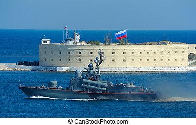 Military parade in Sevastopol.