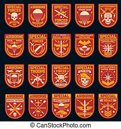 Military patches, special operation and air forces
