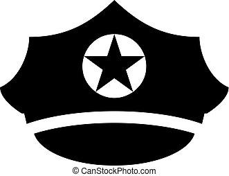 Military peaked cap vector icon