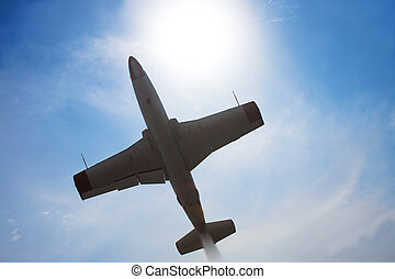 military plane in the sky
