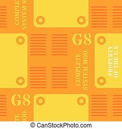 Military plate seamless pattern