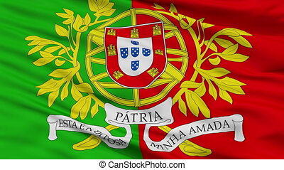 Military Portugal Flag Closeup Seamless Loop - Military...