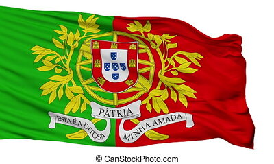 Military Portugal Flag Isolated Seamless Loop - Military...