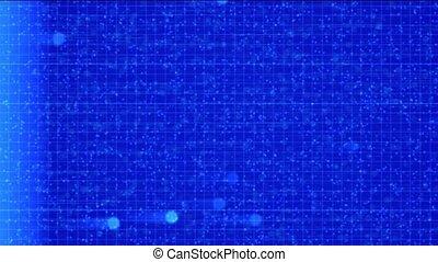 military radar screen,radar scanning alien life in universe.