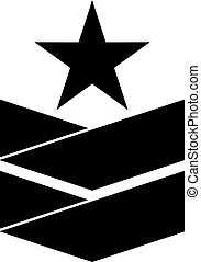 Military rank insignia with a star